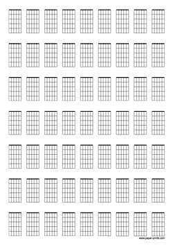 guitar chord diagrams A4 preview