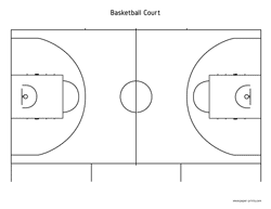 basketball court letter preview