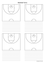 basketball tactics diagram a4 preview