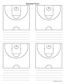 basketball tactics diagram letter preview