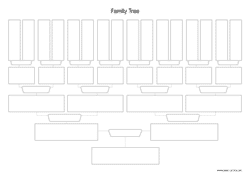 family tree chart A4 landscape preview
