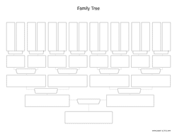 family tree chart letter landscape preview