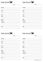food journal A4 preview
