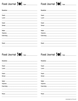 food journal letter preview