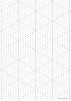isometric grid A4 preview