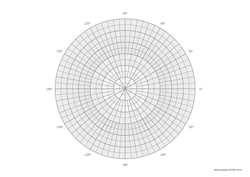polar graph with coordinates A4 landscape preview