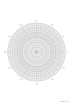 polar graph with coordinates A4 preview