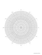 polar graph with coordinates letter portrait preview