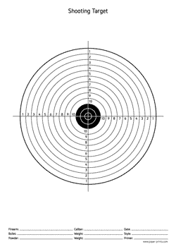 print shooting target a4 paper for free