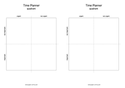time planner quadrant 2x A4 preview